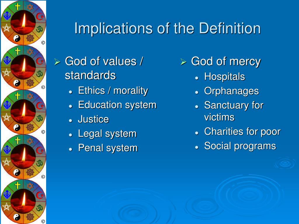 God of values / standards