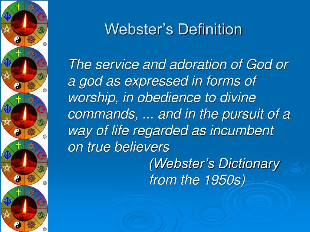 Webster's Definition