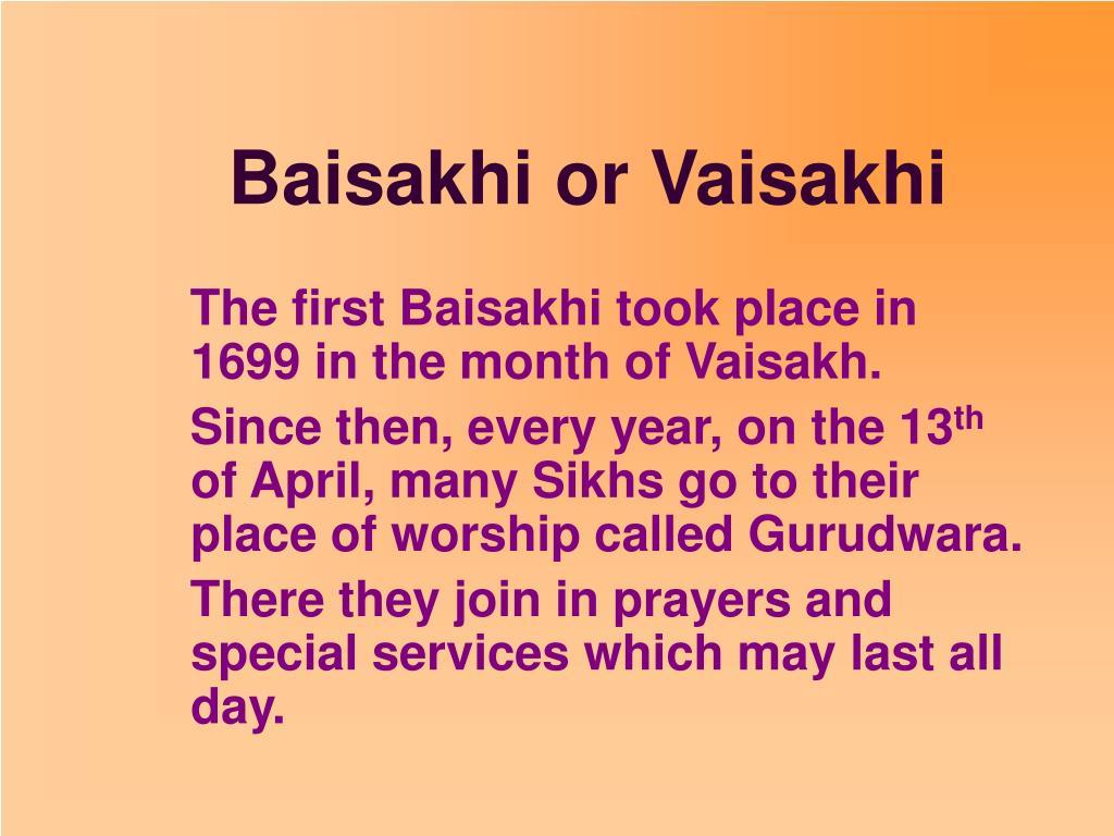 Baisakhi or Vaisakhi