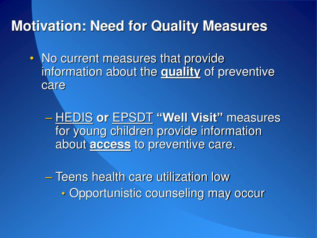 Motivation: Need for Quality Measures