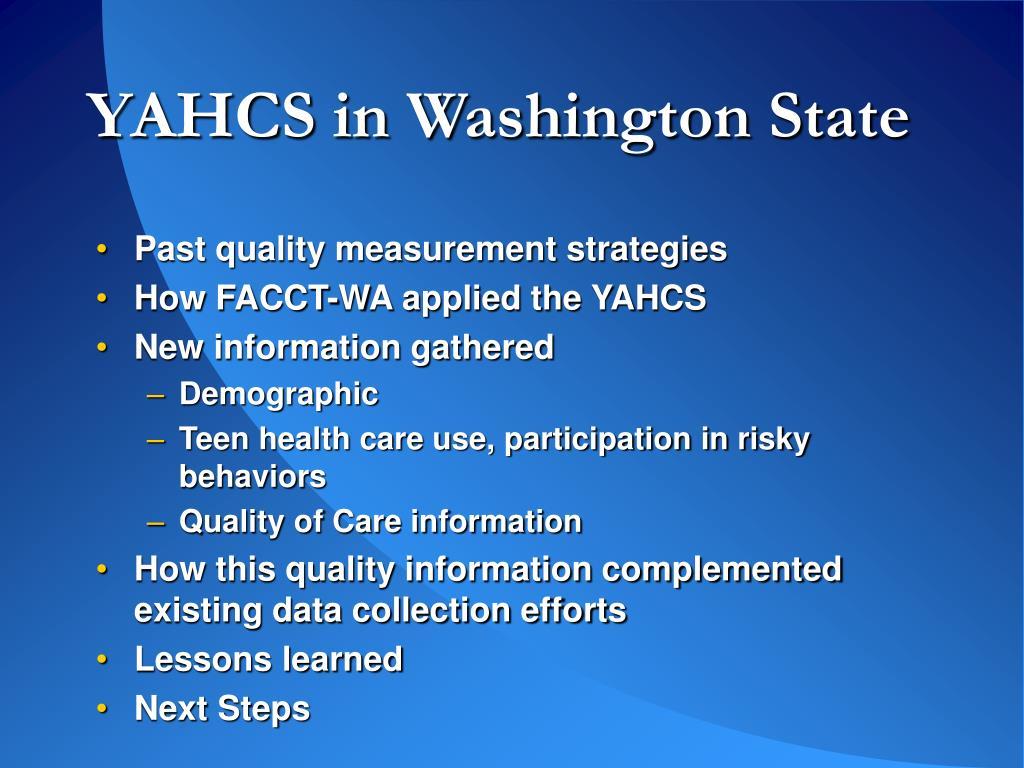YAHCS in Washington State