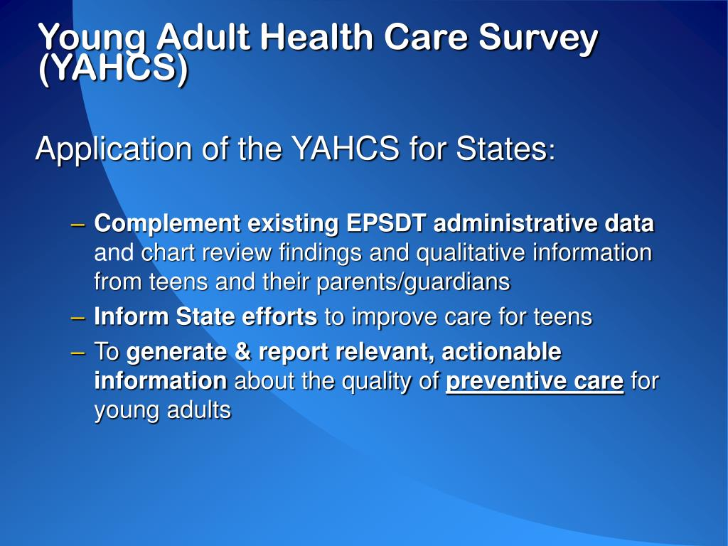 Young Adult Health Care Survey