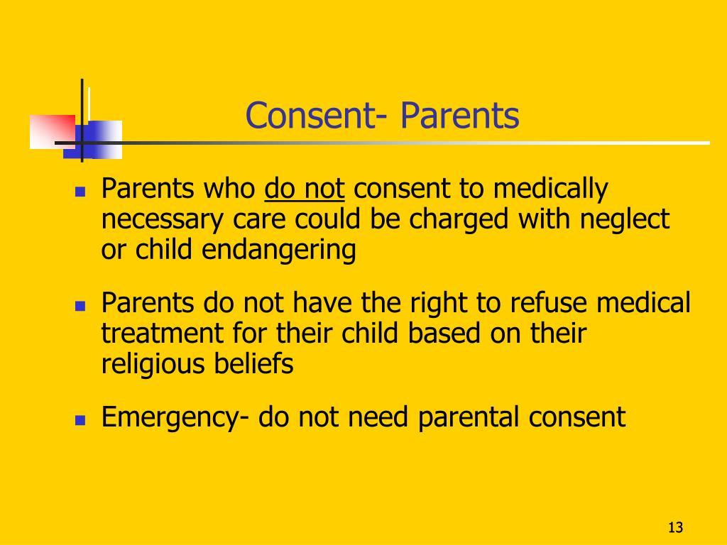 Consent- Parents