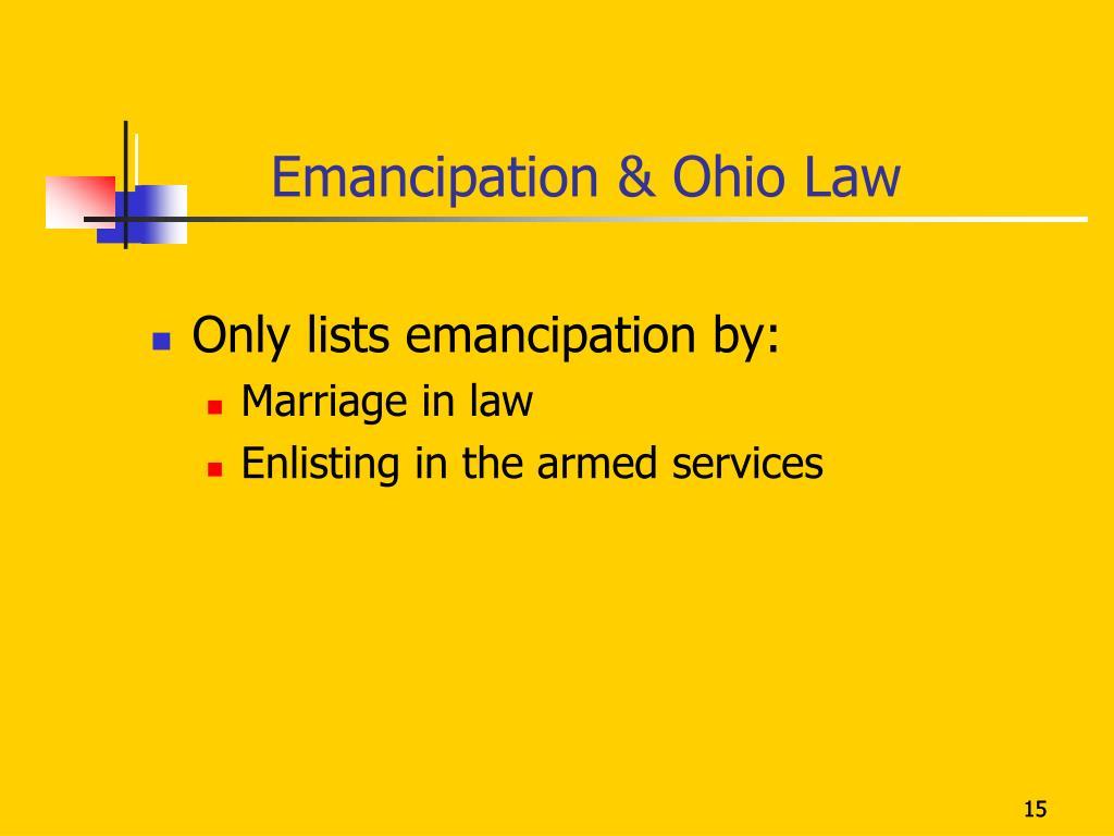 Emancipation & Ohio Law
