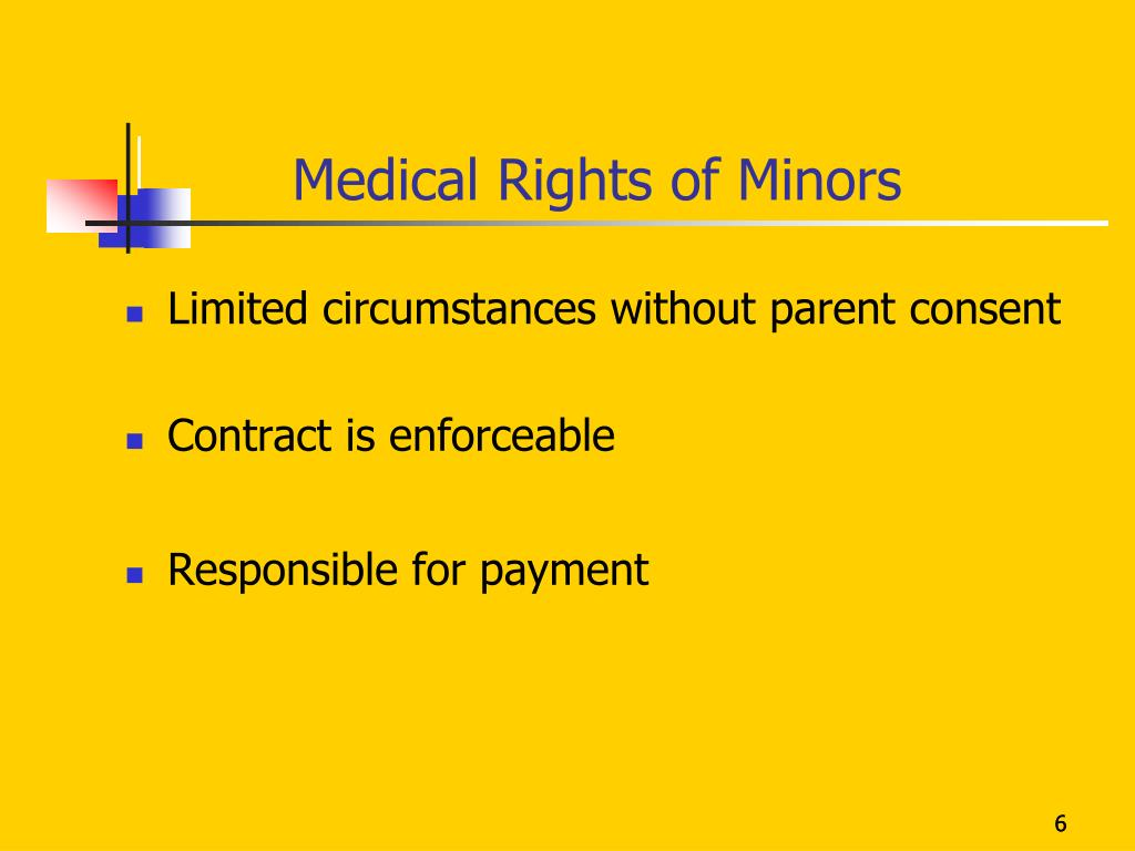 Medical Rights of Minors