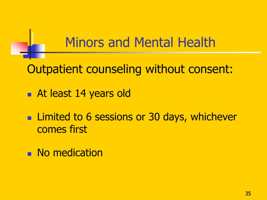 Minors and Mental Health