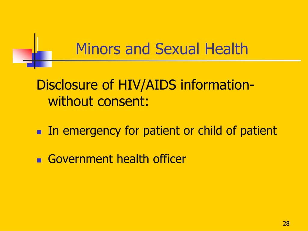 Minors and Sexual Health