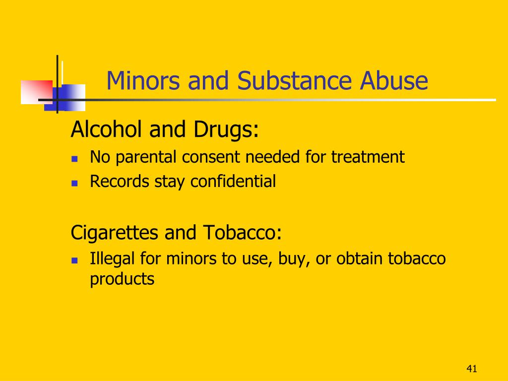 Minors and Substance Abuse