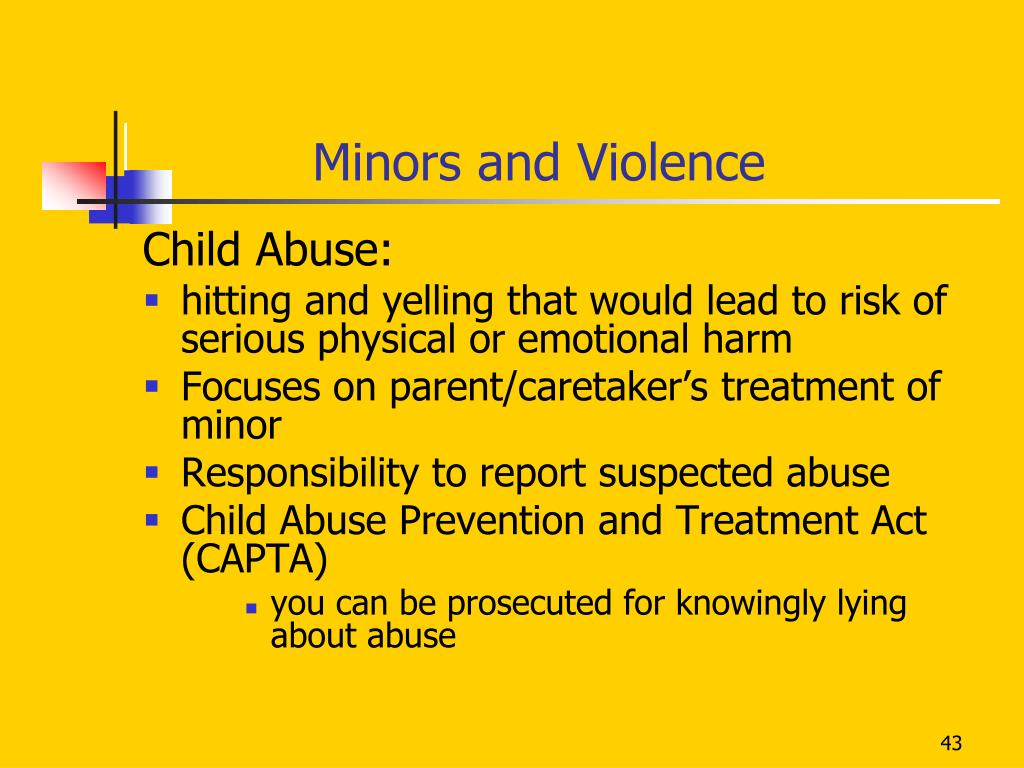 Minors and Violence