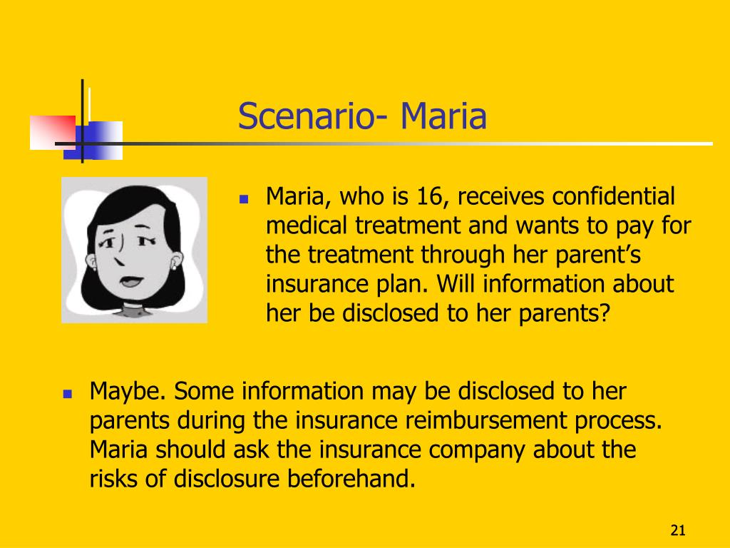 Scenario- Maria