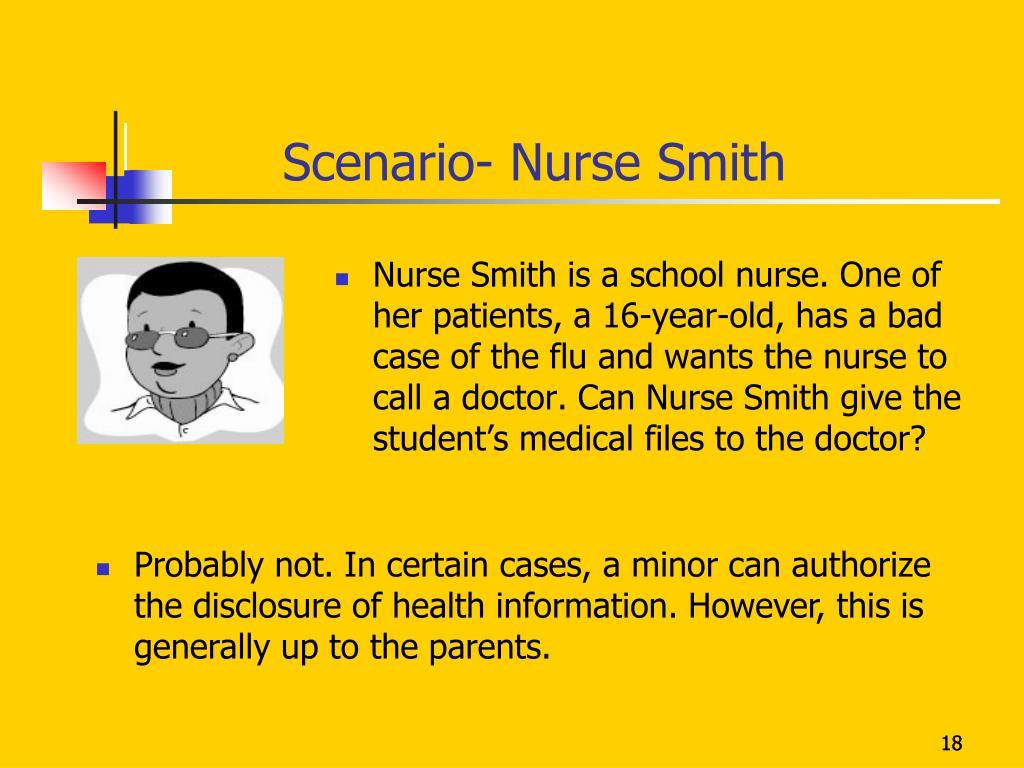Scenario- Nurse Smith