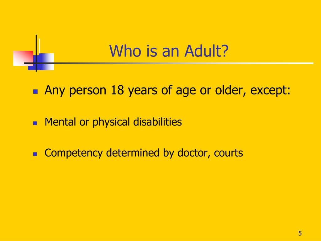 Who is an Adult?