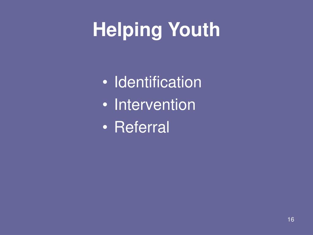 Helping Youth