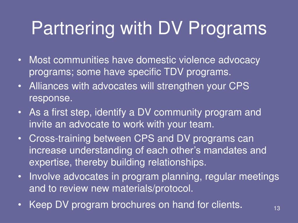 Partnering with DV Programs
