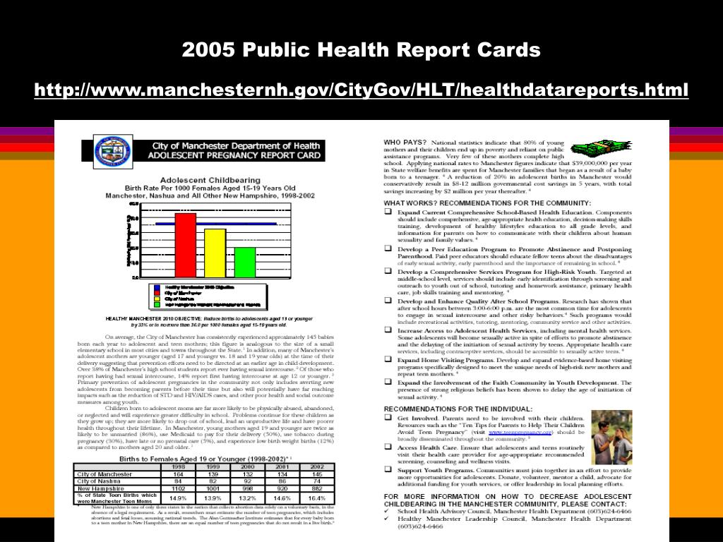 2005 Public Health Report Cards
