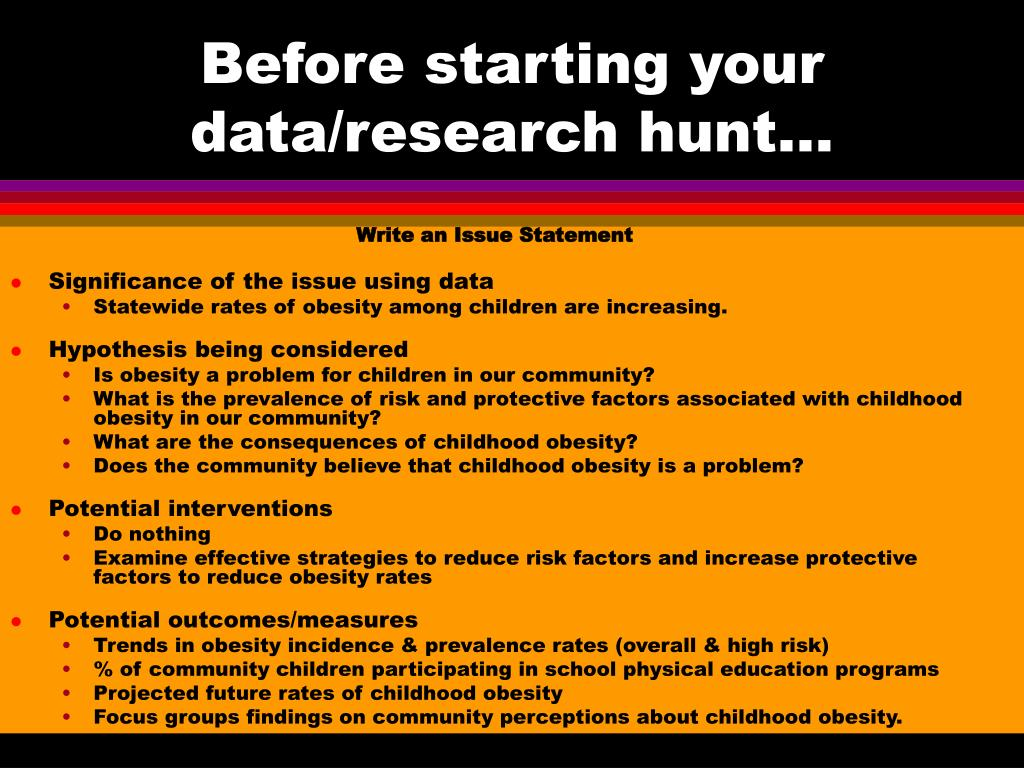 Before starting your data/research hunt…