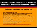 city of manchester department of health and the healthy manchester leadership council