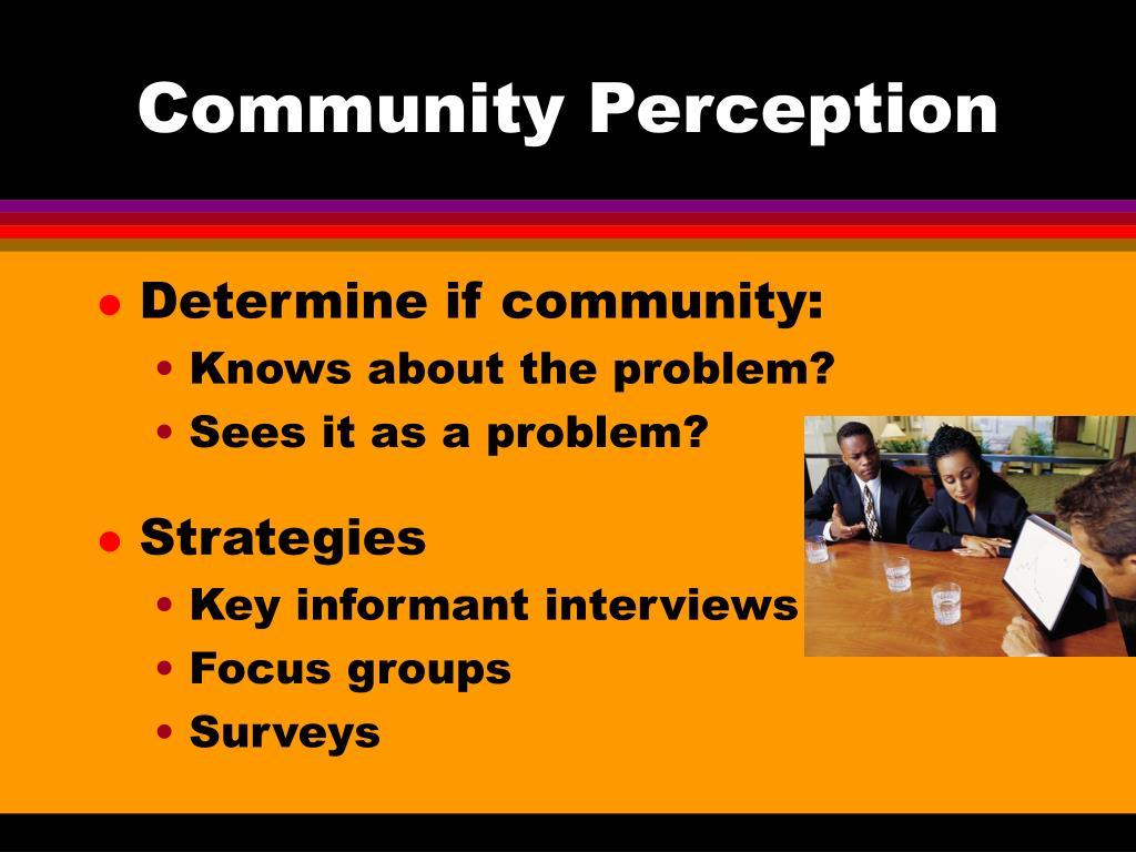 Community Perception