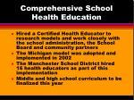 comprehensive school health education41