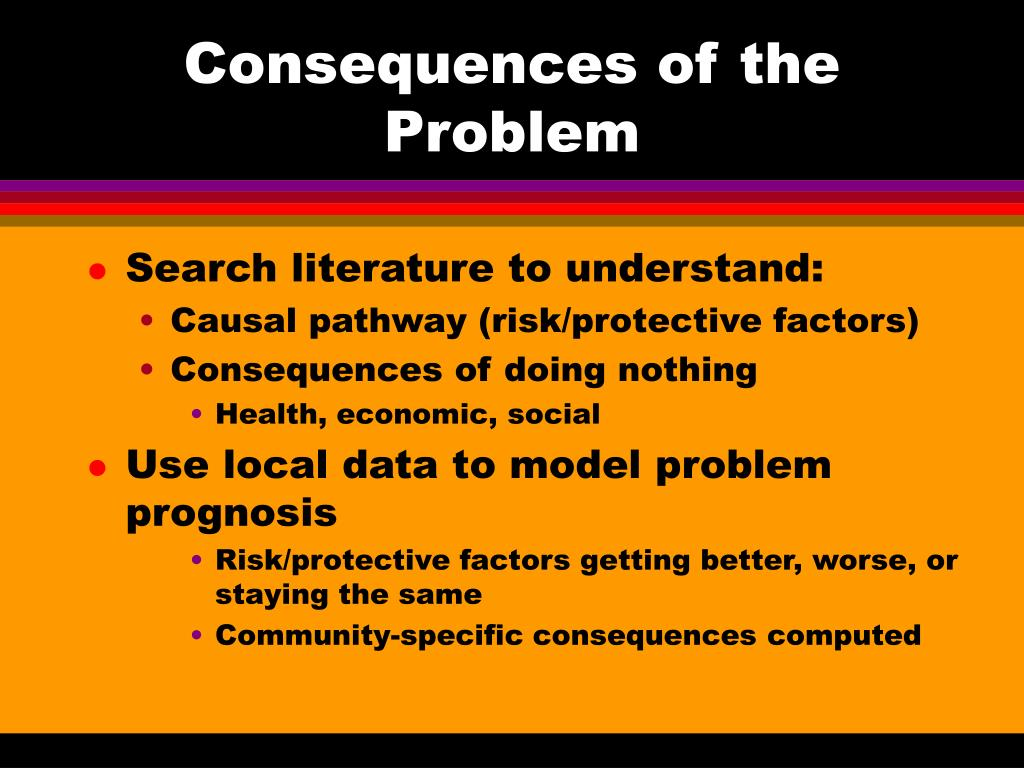 Consequences of the Problem