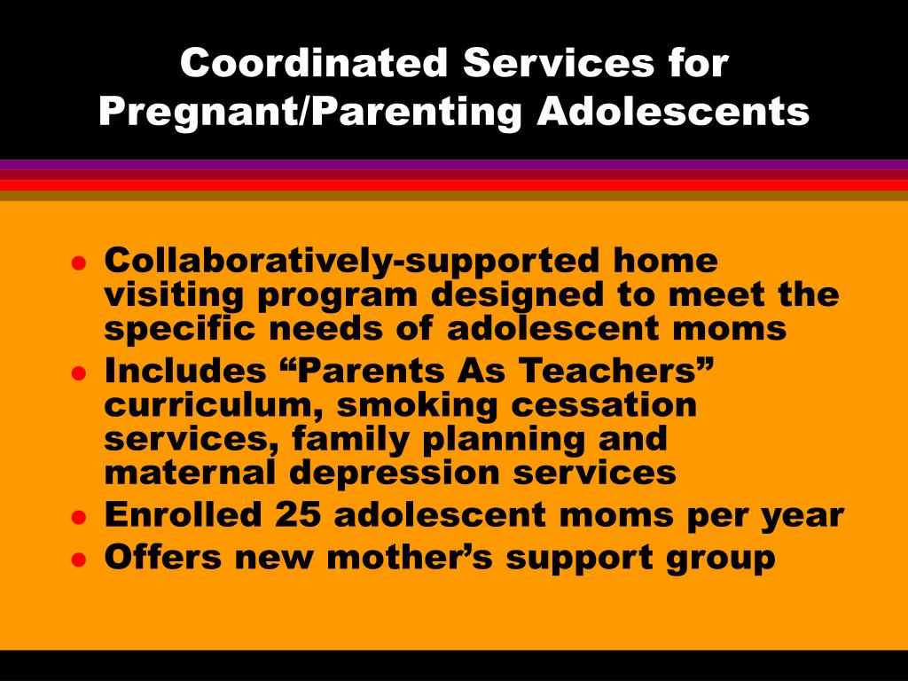 Coordinated Services for Pregnant/Parenting Adolescents