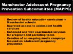 manchester adolescent pregnancy prevention subcommittee mapps