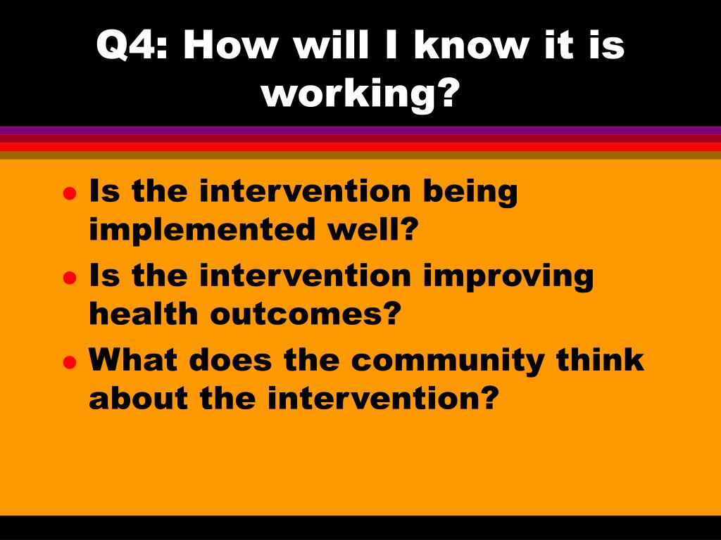 Q4: How will I know it is working?