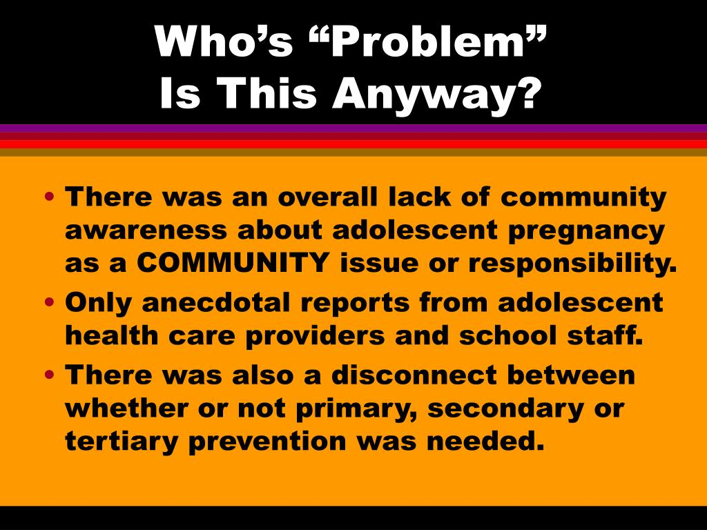 """Who's """"Problem"""""""