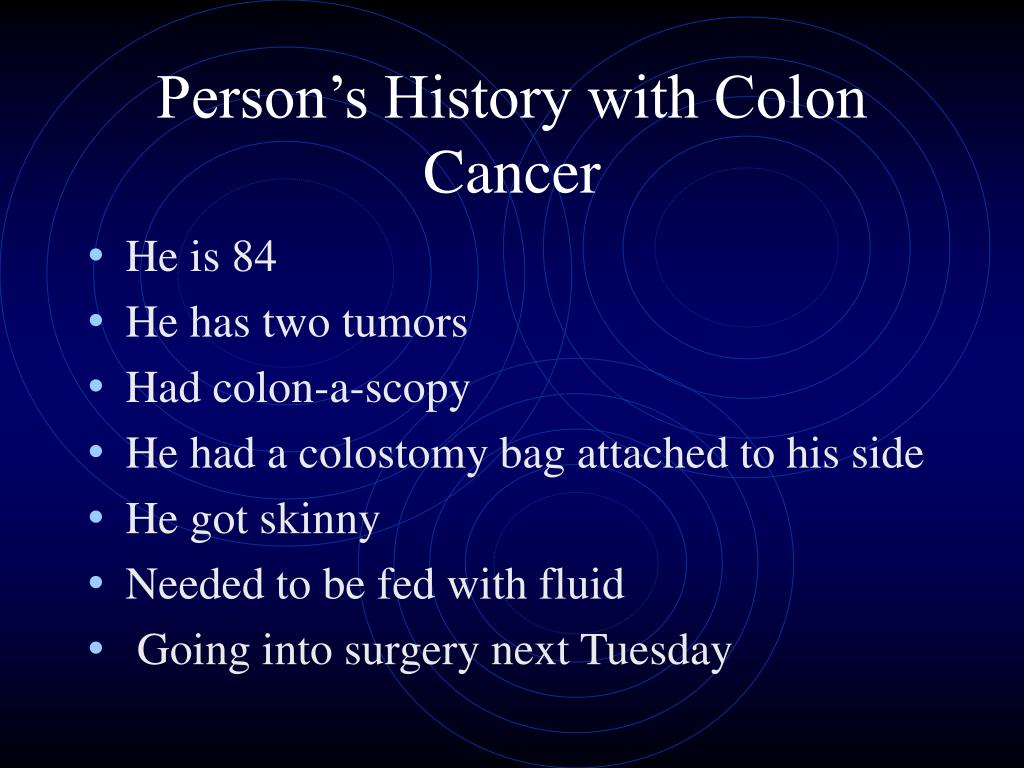 Person's History with Colon Cancer