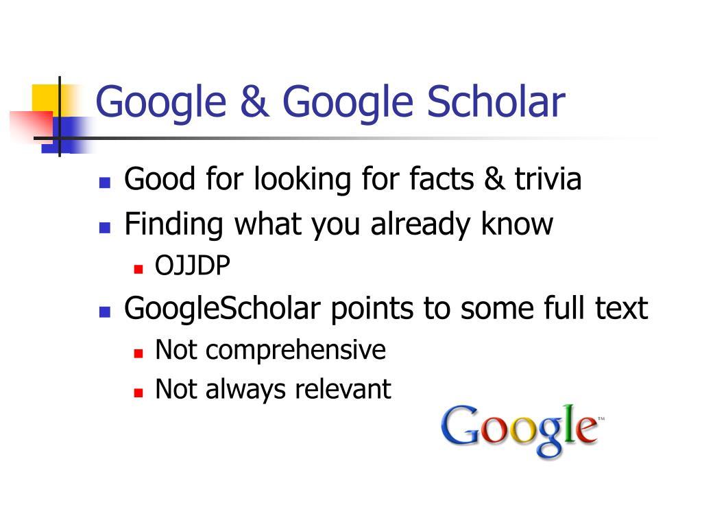 Google & Google Scholar
