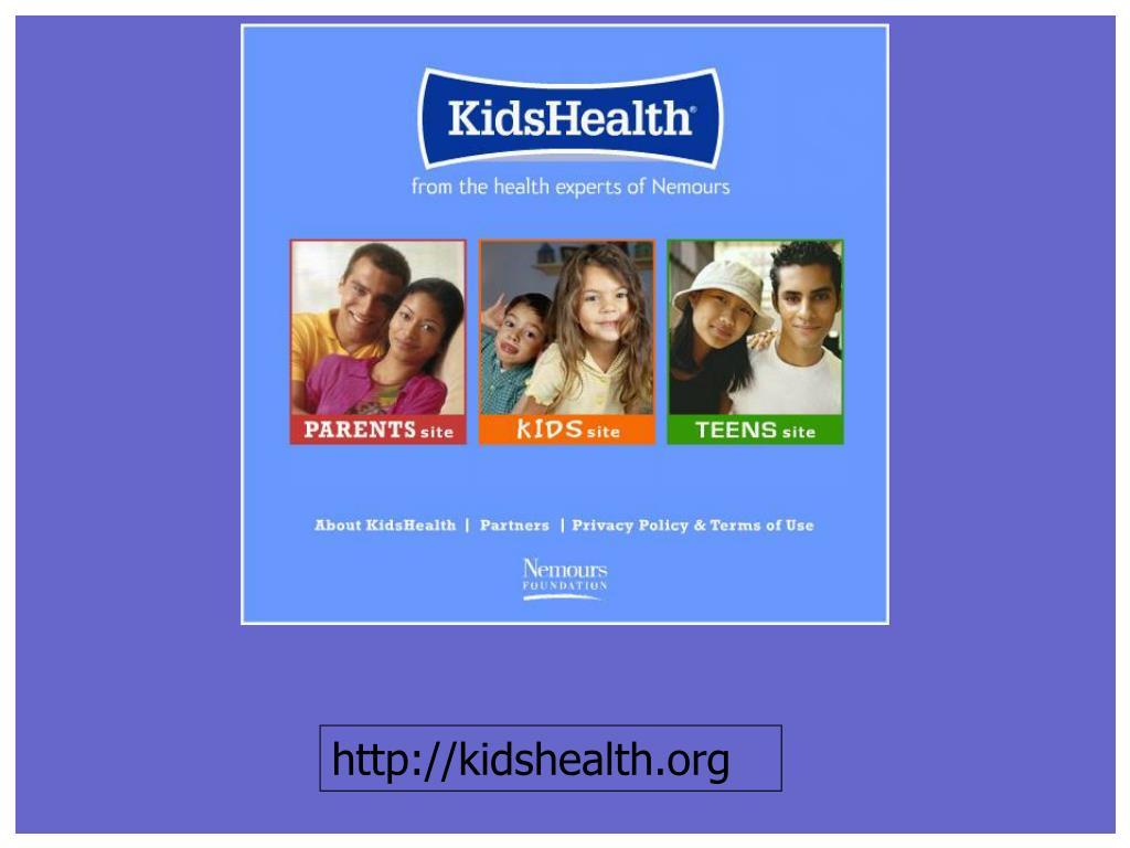 http://kidshealth.org
