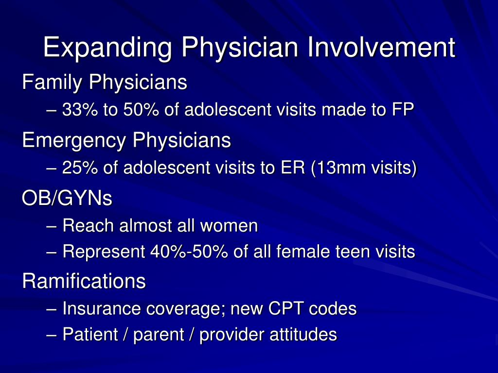 Expanding Physician Involvement