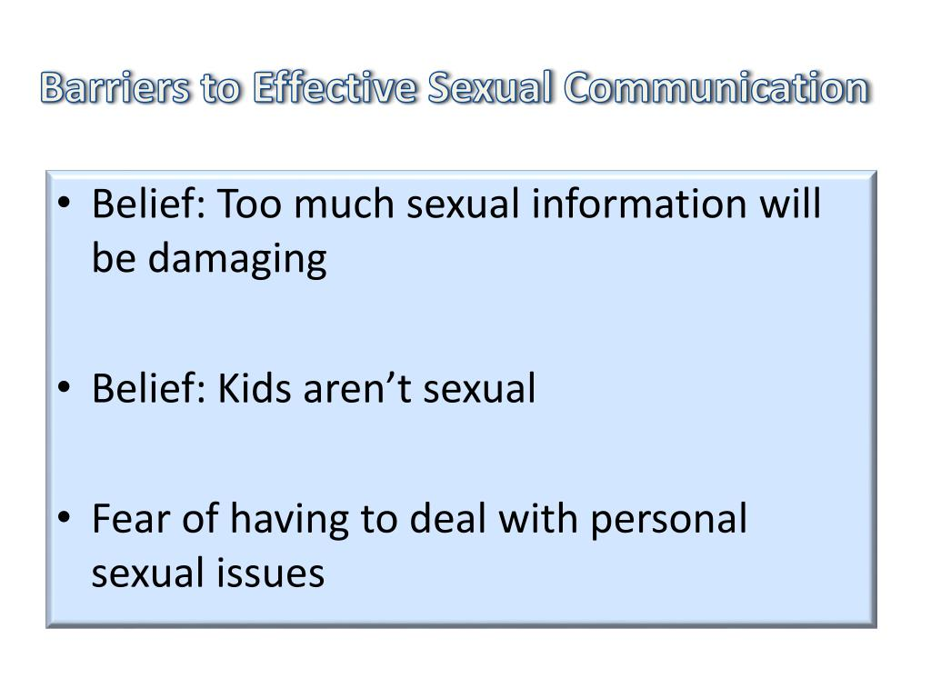 Barriers to Effective Sexual Communication