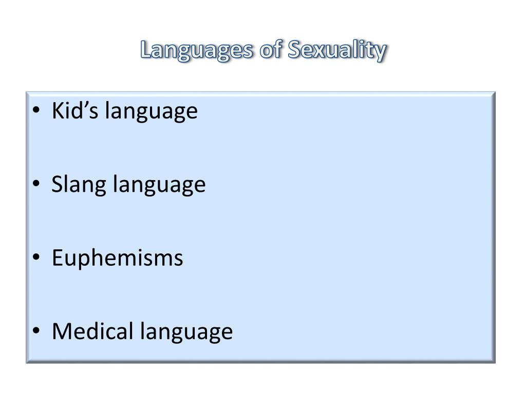 Languages of Sexuality