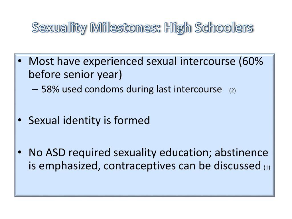 Sexuality Milestones: High