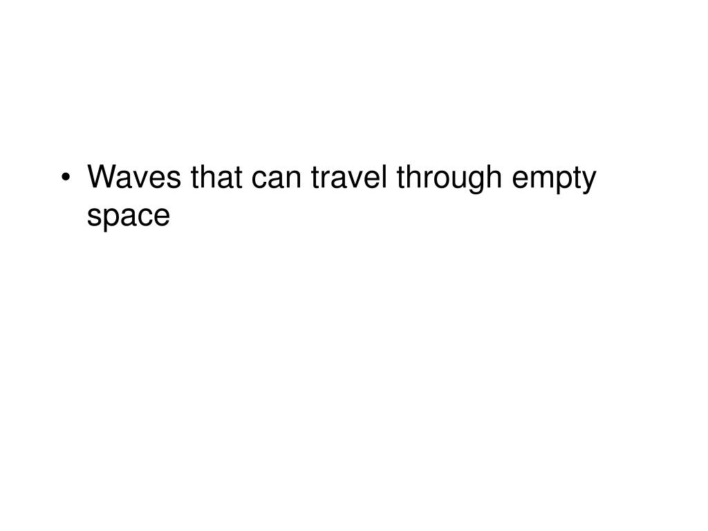 Waves that can travel through empty space
