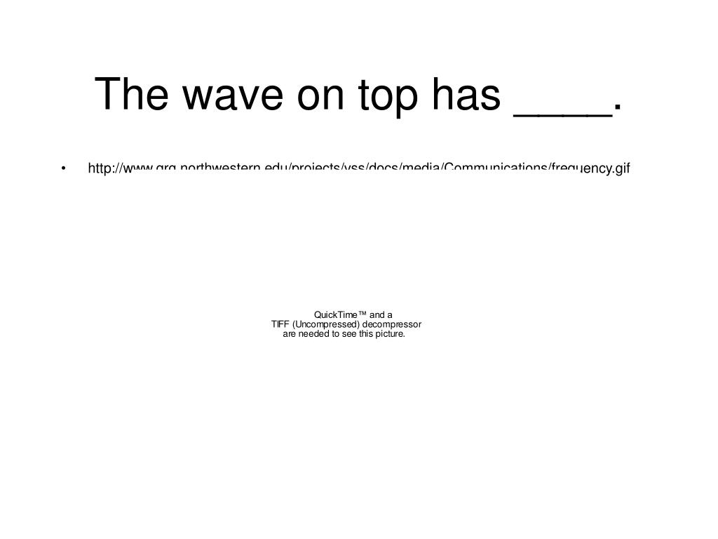 The wave on top has ____.