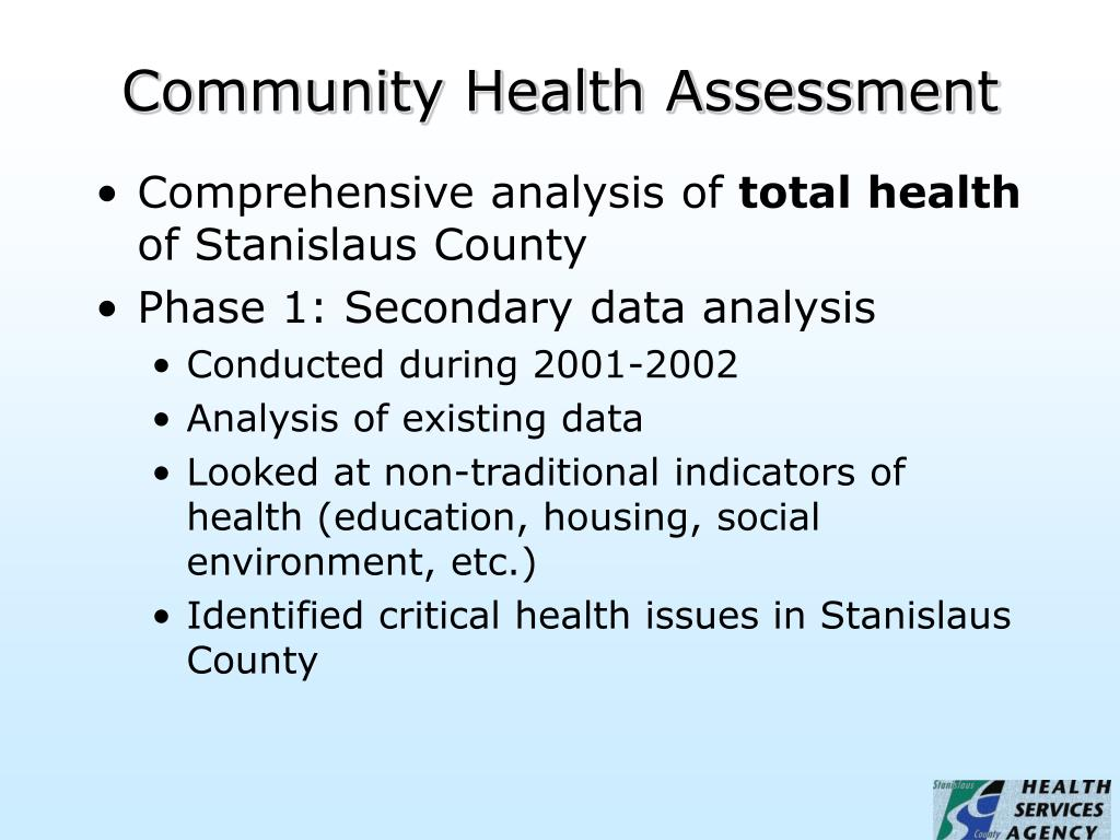 community health assessment For more than 15 years, the lewin group has helped community health planning improve access to better quality health care the lewin group provides community health planning services for cities, local governments, health departments, hospitals, foundations, employers, and other community organizations.