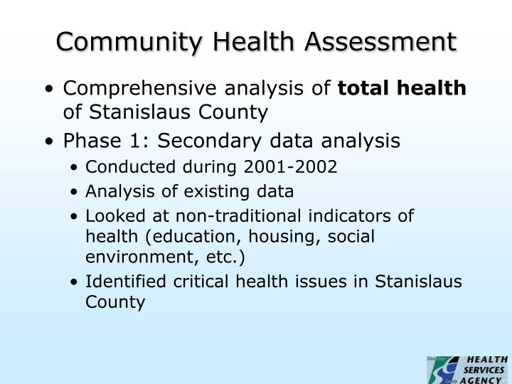 Community health assessment2