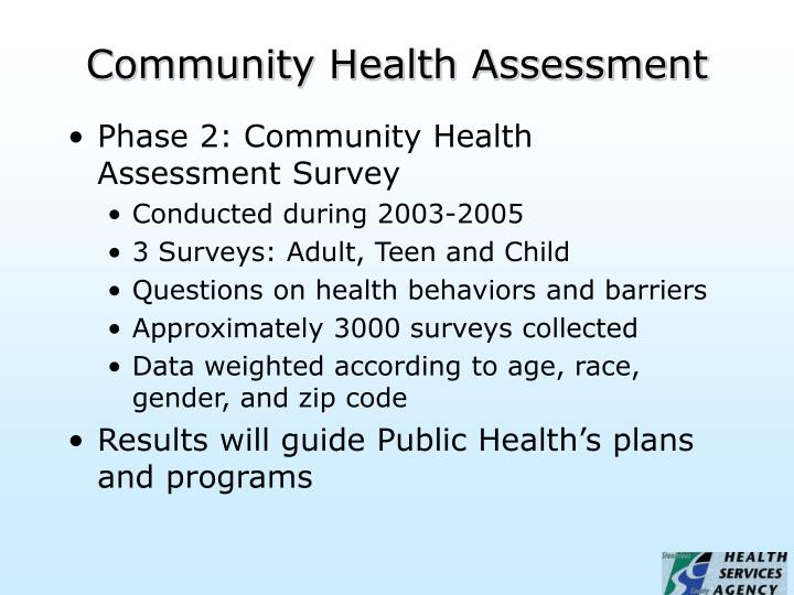 Community health assessment3