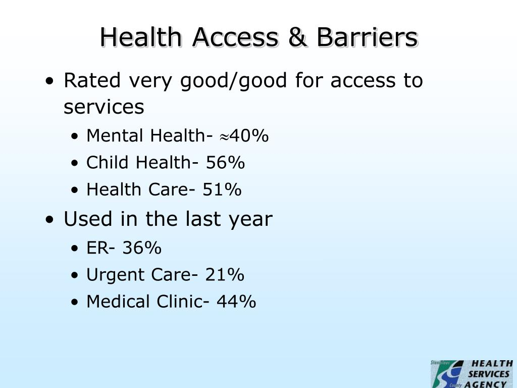 Health Access & Barriers