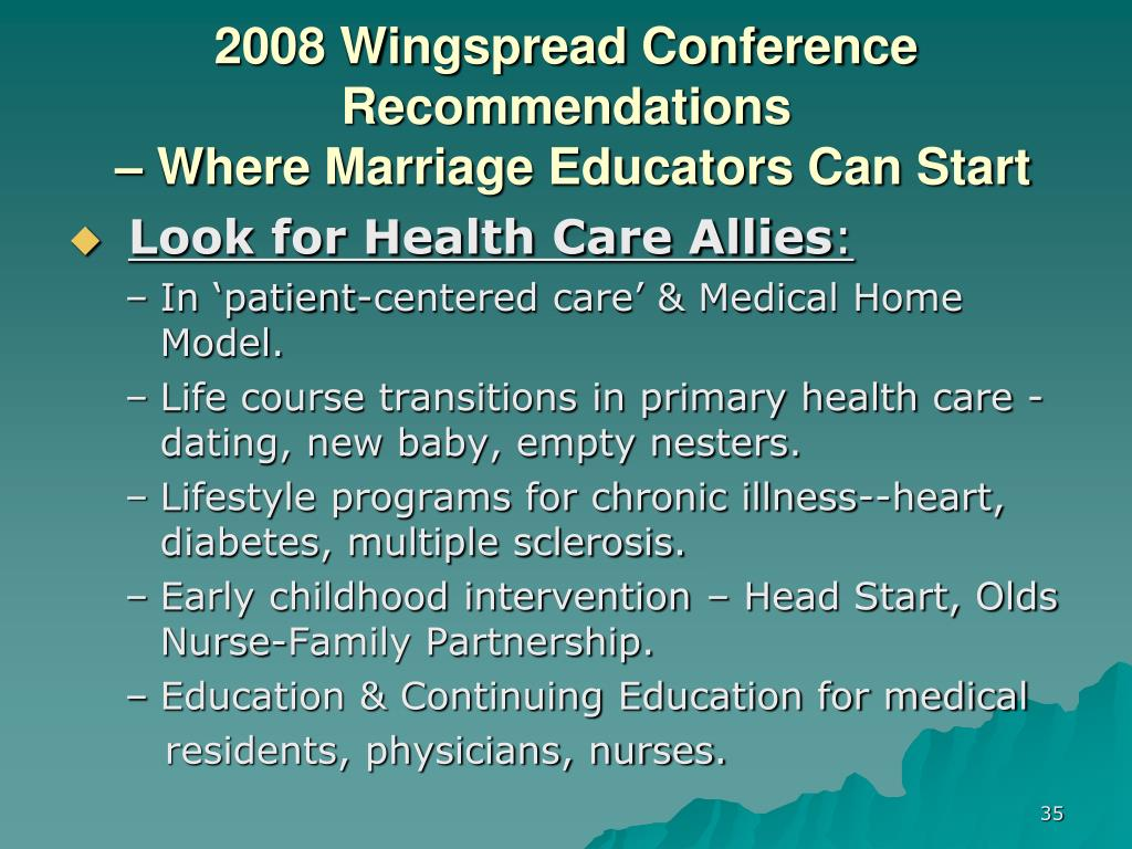 2008 Wingspread Conference Recommendations