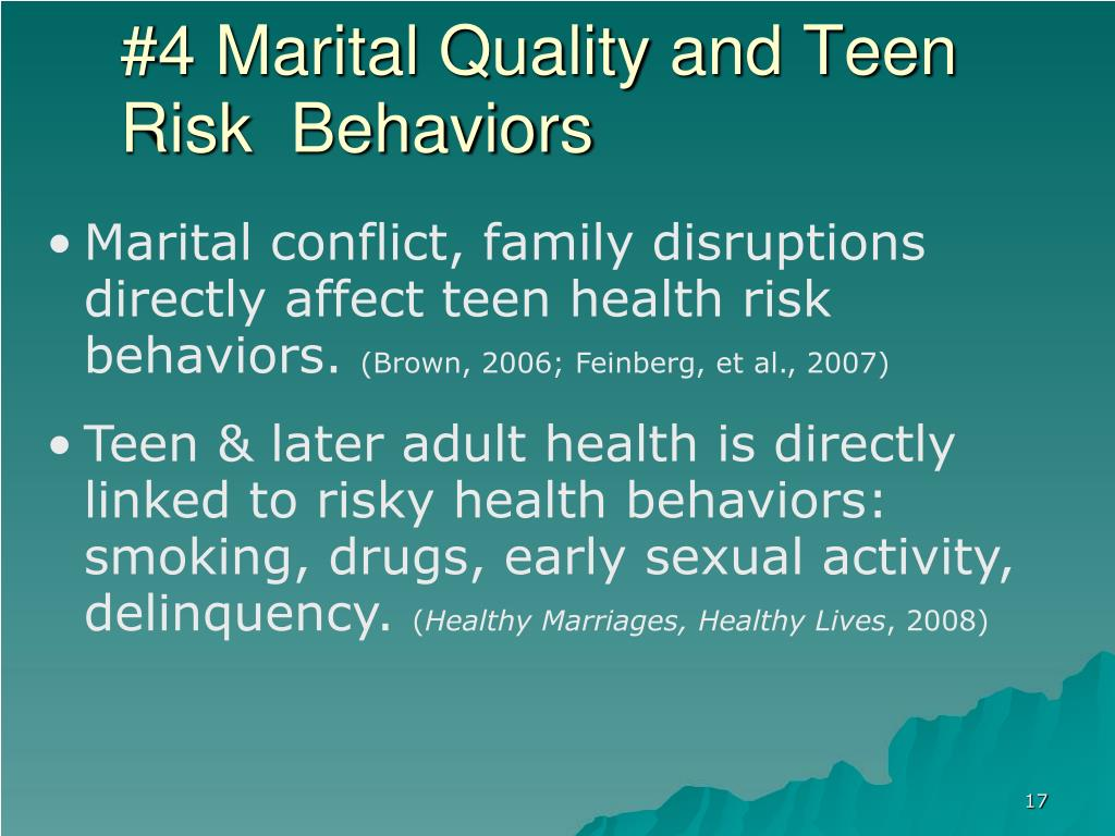#4 Marital Quality and Teen