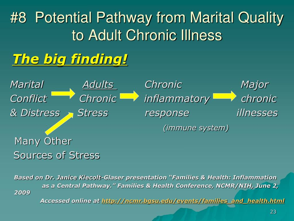 #8  Potential Pathway from Marital Quality to Adult Chronic Illness