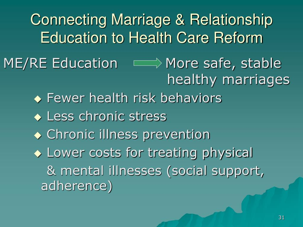 Connecting Marriage & Relationship Education to Health Care Reform