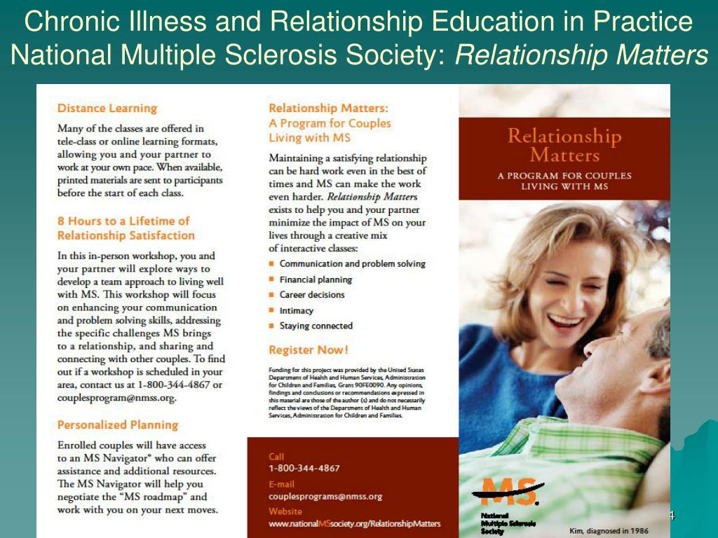 Chronic Illness and Relationship Education in Practice     National Multiple Sclerosis Society: