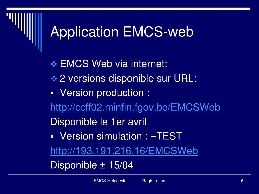 Application EMCS-web