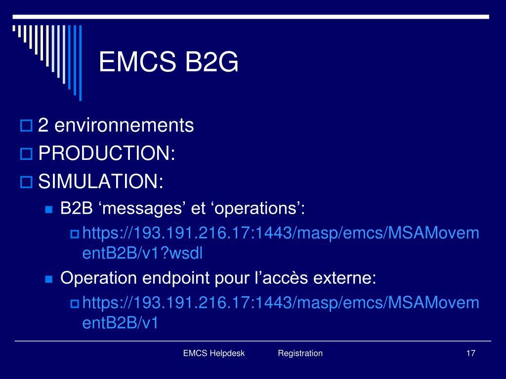 EMCS B2G