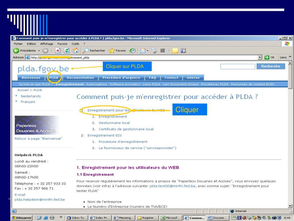 Cliquer sur PLDA