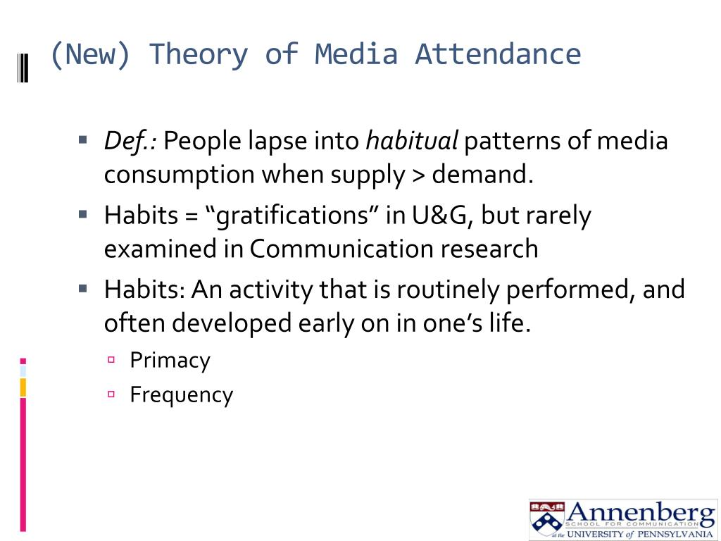 (New) Theory of Media Attendance